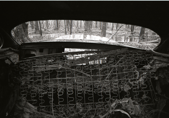 <b>rear view</b><br> 2008<br> 11/14 in. <br> silver gelatin print