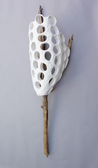 <b>meadowlands branch I </b><br> found wood, cardboard, tape, foam 2015, 61 x 15 x 12 inches
